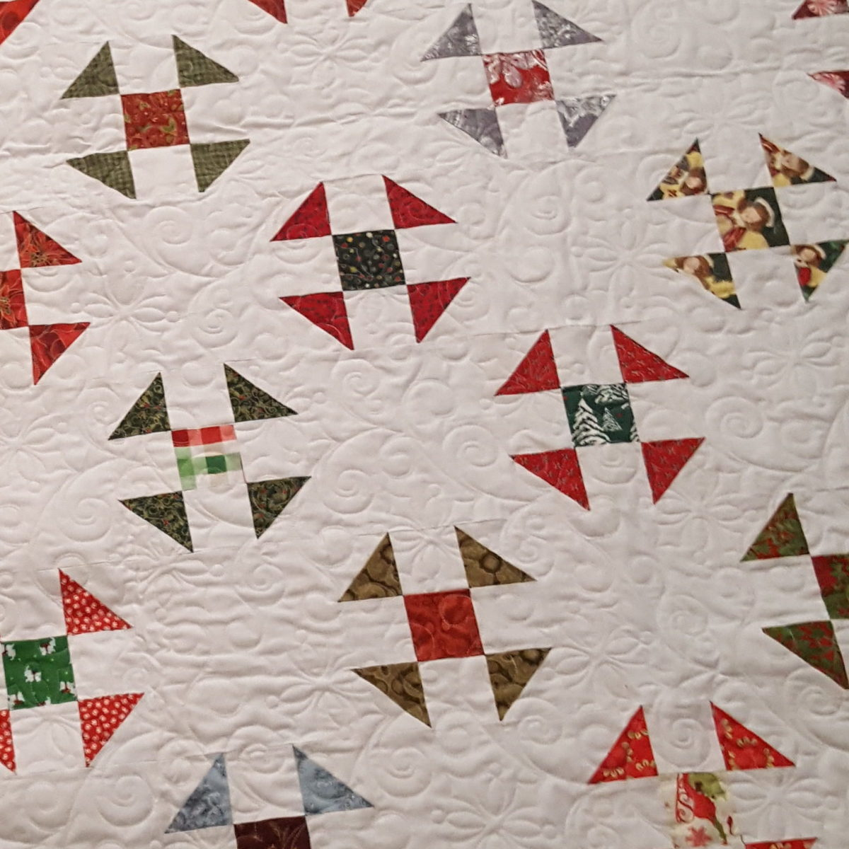 Sue's Christmas Block Lottery Quilt