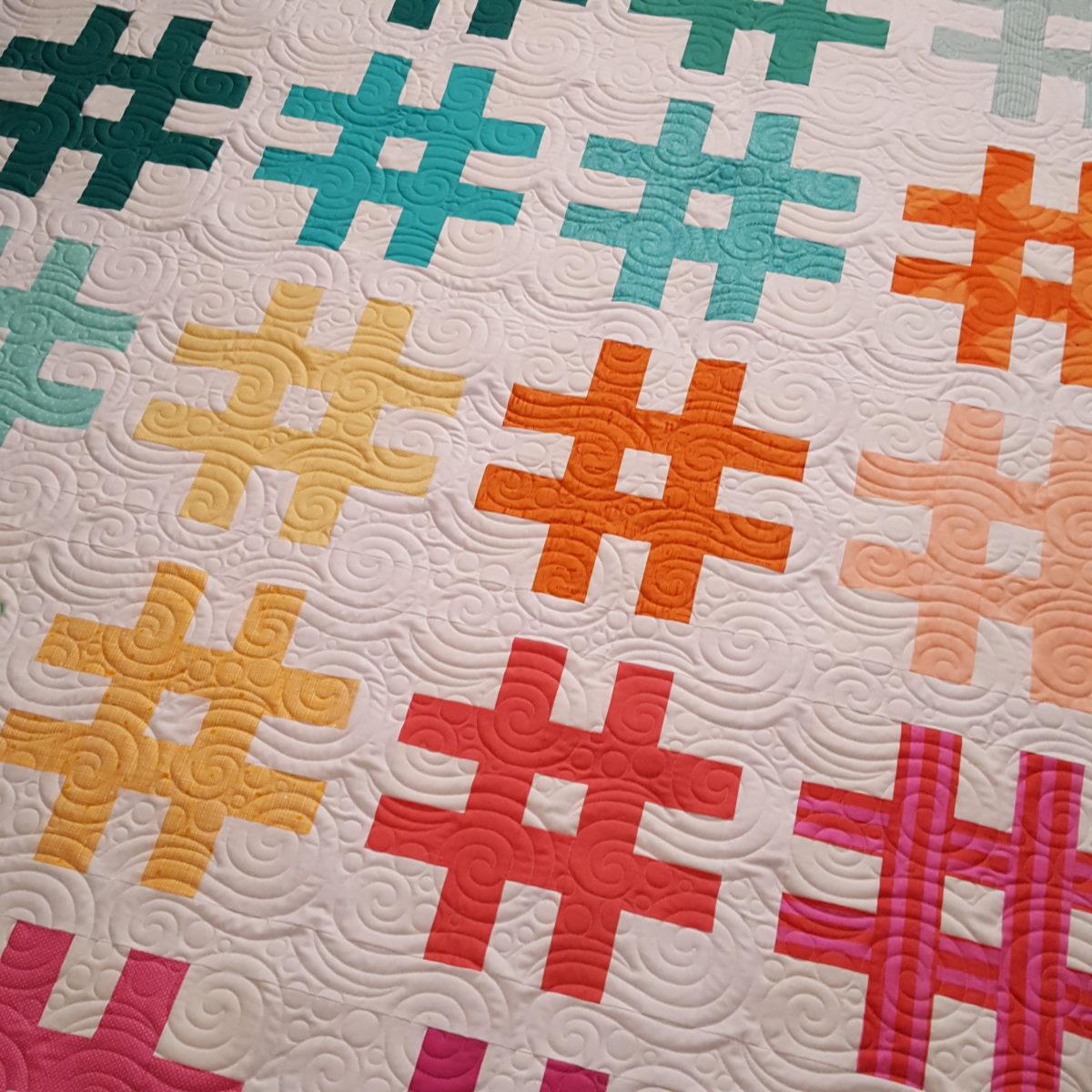 Sara's Hashtag Quilt
