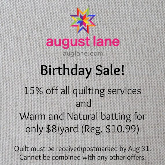 Birthday Sales!