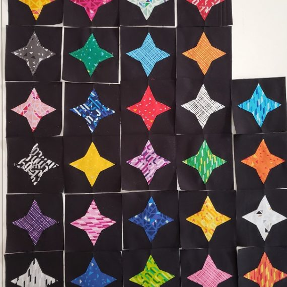 Seeing Stars Quilt Along- Applique Star Blocks