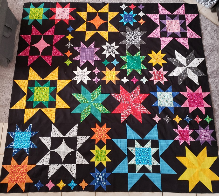 Seeing Stars Quilt Along- Finished Top!
